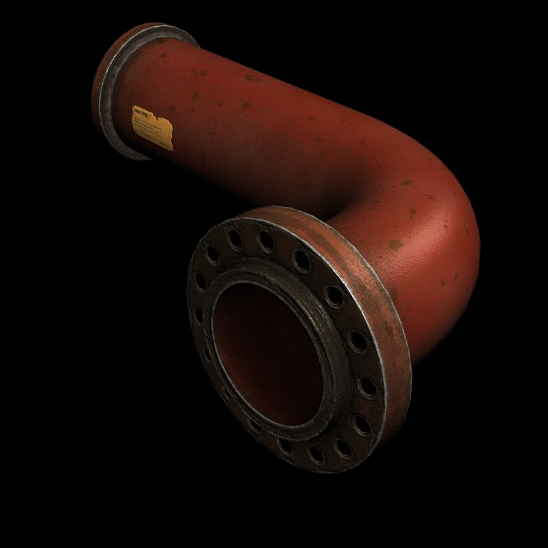 3d model of industrial pipe