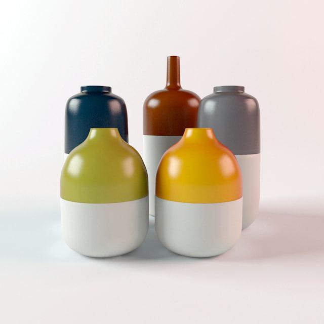 3d modern vases model