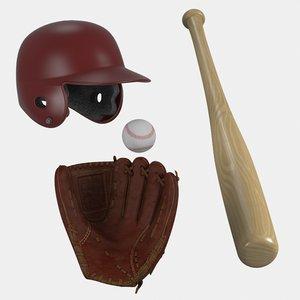 3d baseball equipment ball
