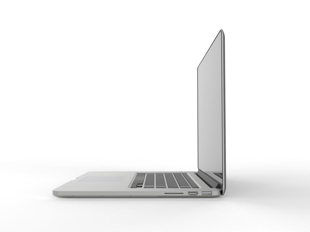 apple macbook pro retina 3d 3ds