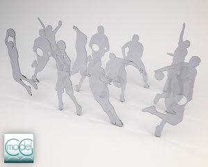 3d c4d silhouette people