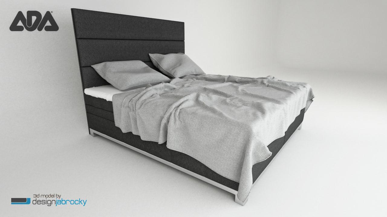 3d realistic bed ada
