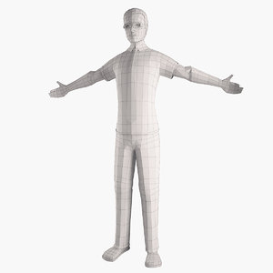 man shirt figure 3d 3ds