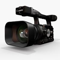 canon xha1 video 3d model