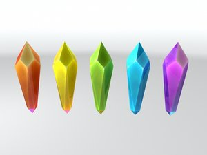 cartoon crystal 3d obj