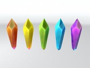 cartoon crystal 3d obj