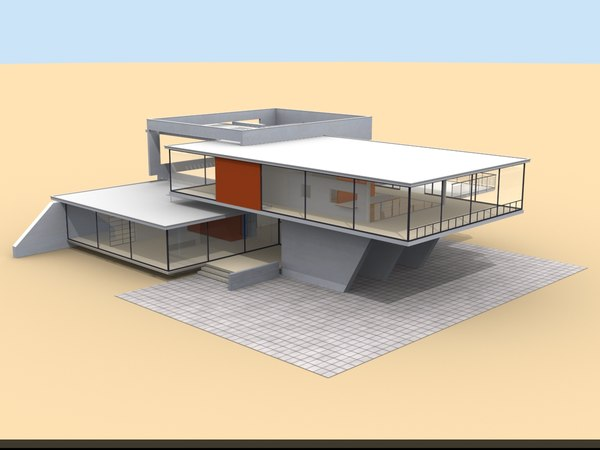 3ds max modern house