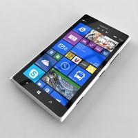 nokia lumia 1520 white 3d max