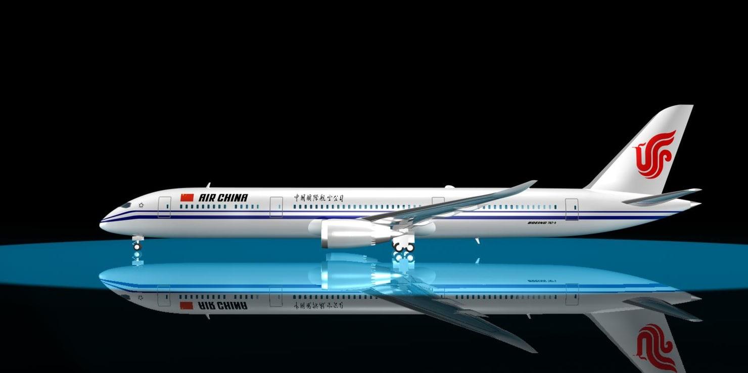 3ds max air china 787-9 dreamliner