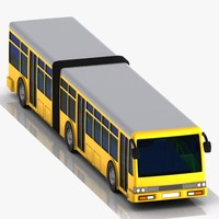 cartoon bus metrobus 3d max