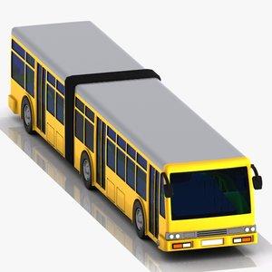 cartoon bus metrobus 3d max