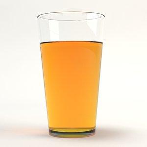 drinking glass 3d model