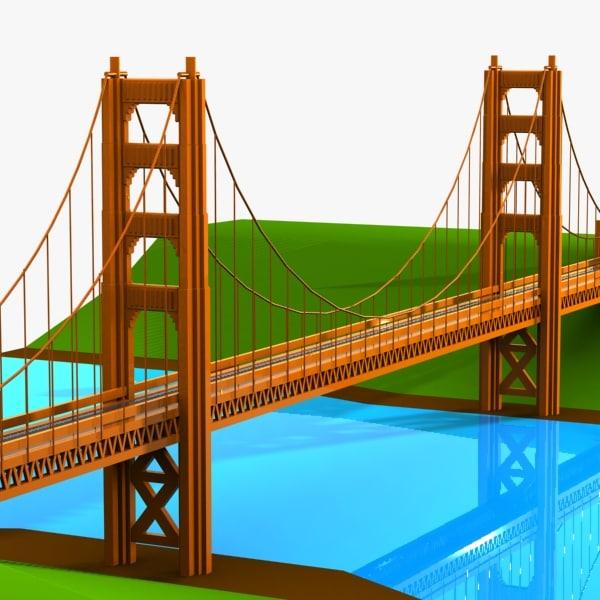 car bridge 3d model