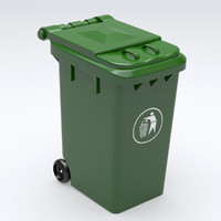 3d model trash container
