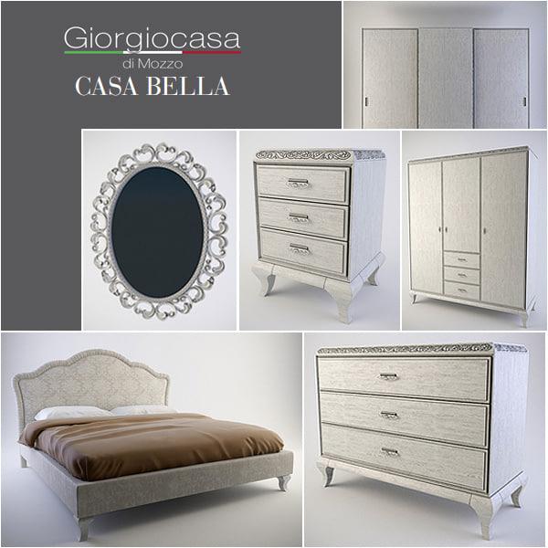 3d Model Furniture Bedroom Bed, Casa Bella Furniture