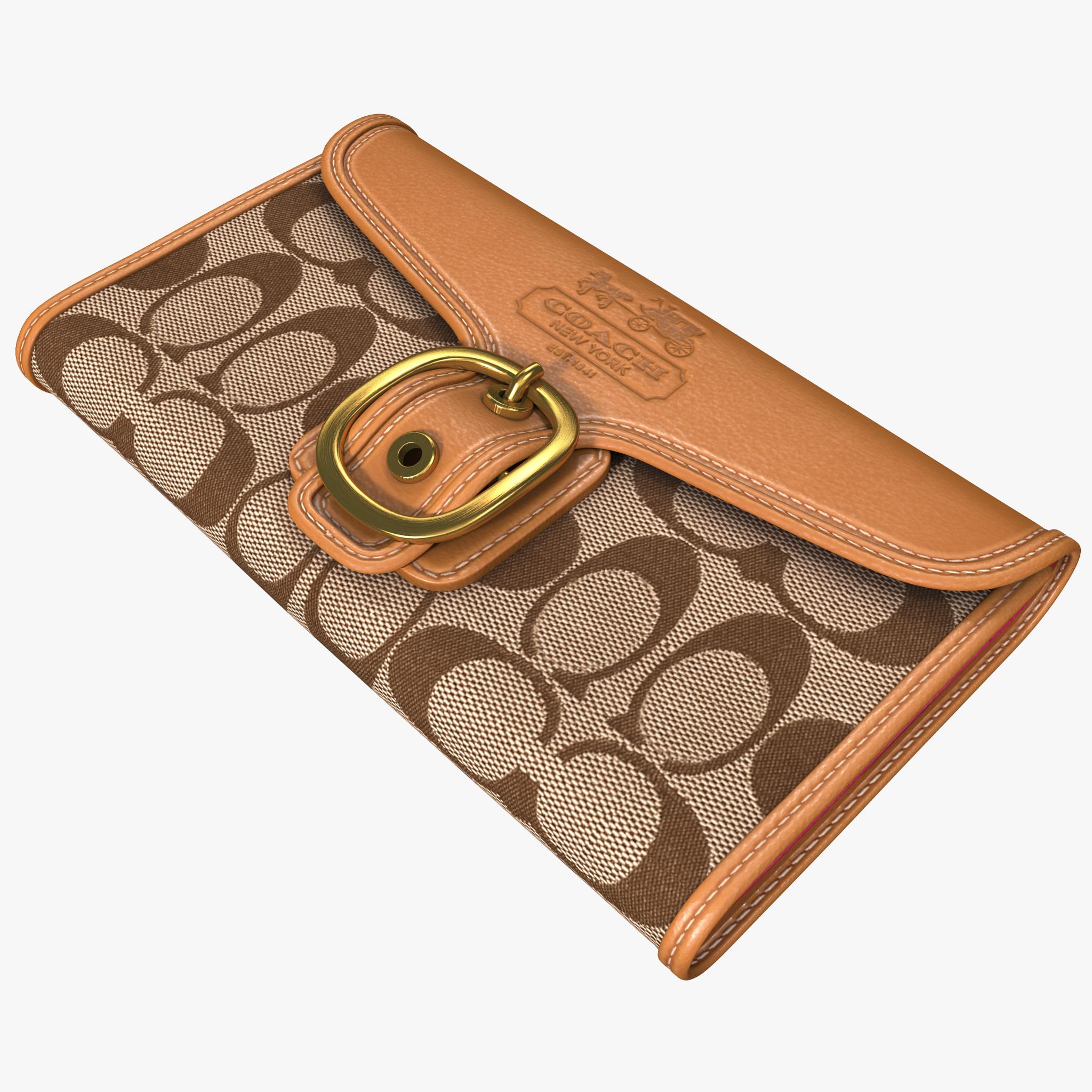 coach wallet 3d model