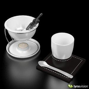 porcelain fondue set max