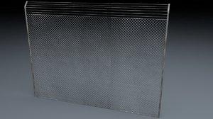 3d model of electric fence v2
