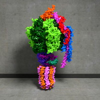 3d yeast f1fo-atp synthase atp