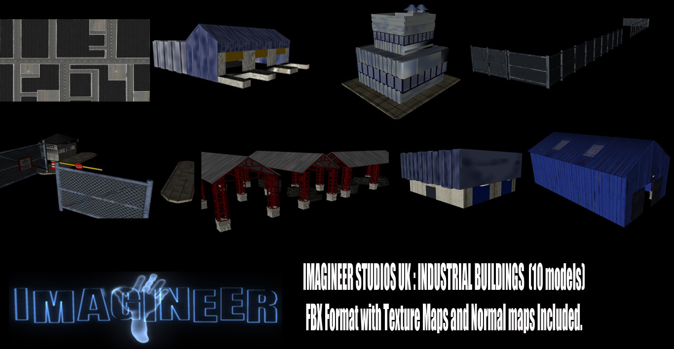 3d model industrial buildings