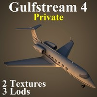 3d model gulfstream 4 pvt
