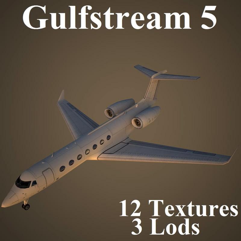 gulfstream 5 3d model
