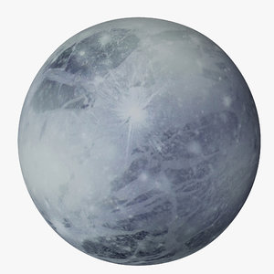 3d pluto planet model