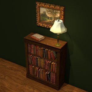 blend traditional bookcase lamps books