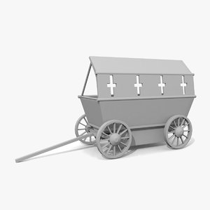 3d model of medieval war wagon