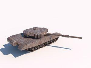 t-90 russian tank 3d model
