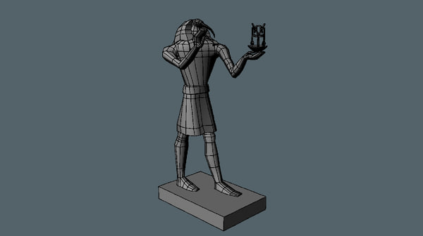 3d model ancient egyptian thoth