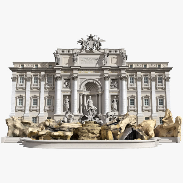 trevi fountain 3ds