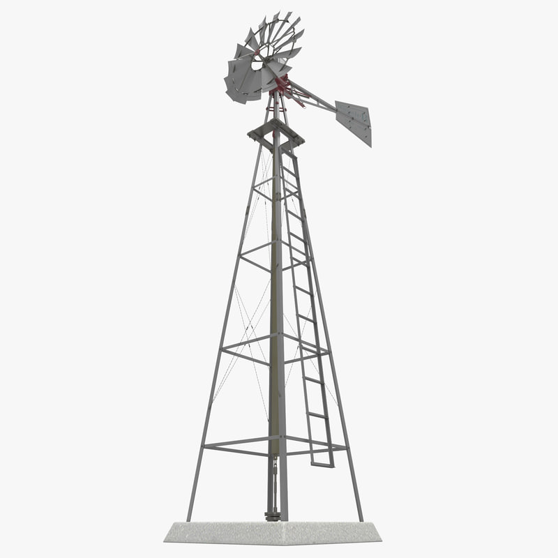 water pumping windmill 3ds
