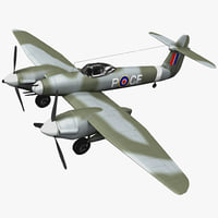 3d westland whirlwind british fighter