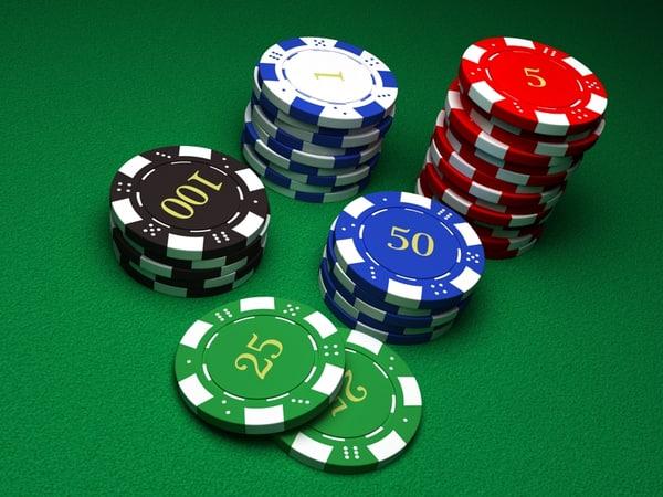 3d model chips casino