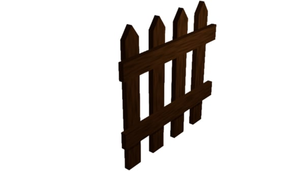 3ds fence wood