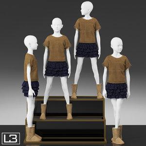 3dsmax kid mannequin
