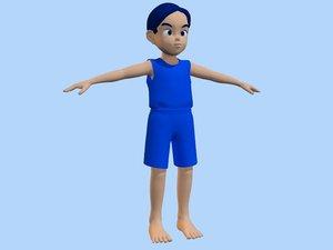 3dsmax boy anime