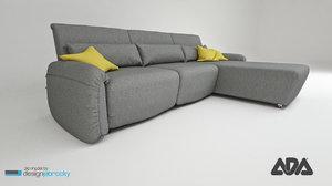 3d sofa navy ada model