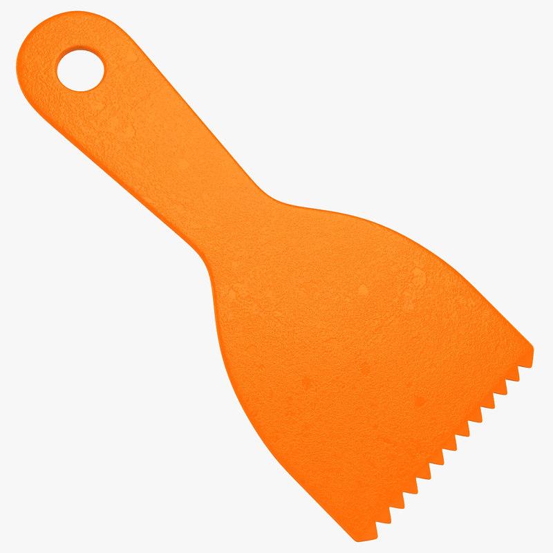 plastic spatula 3d 3ds