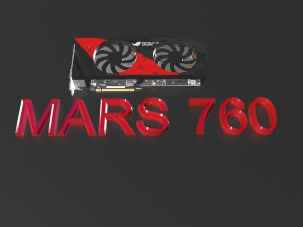 free graphics card mars 760 3d model