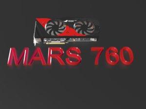 free graphics card mars 760 3d model