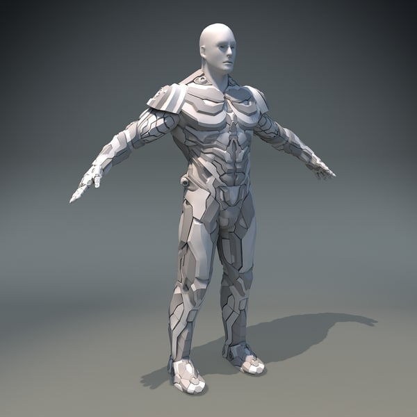 3dsmax scifi man