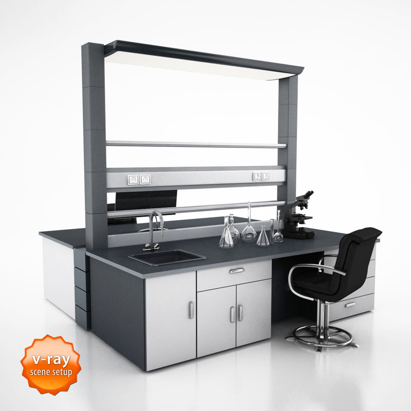 3d laboratory table