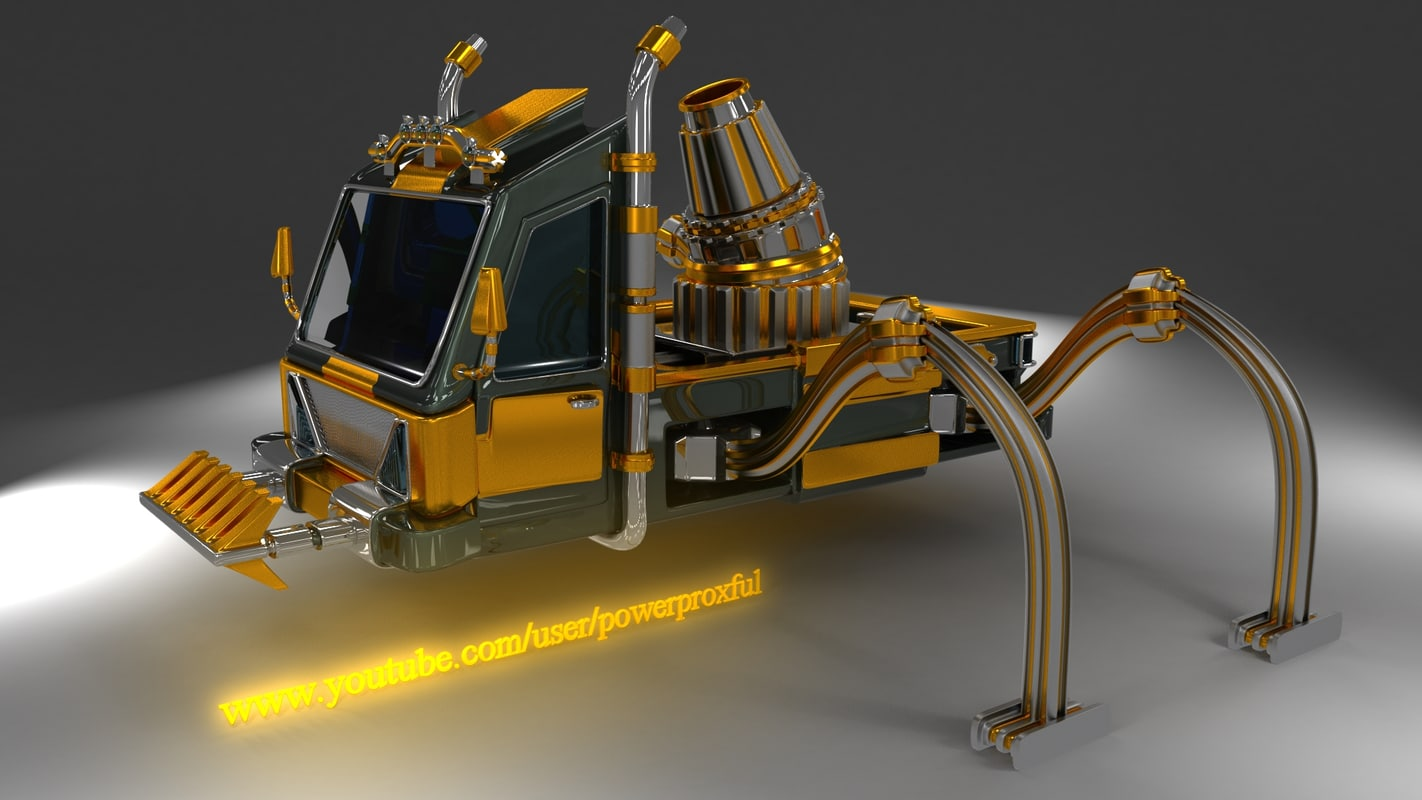 3d model spider truck