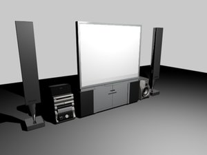 3d home tv sterio model