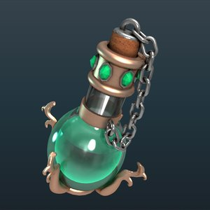 3d glowing potion