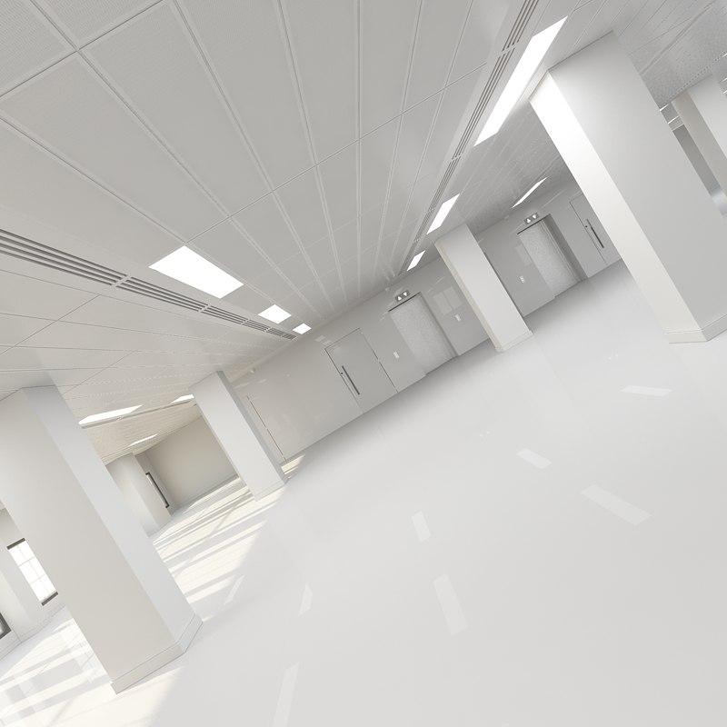 interior office shell 3d max