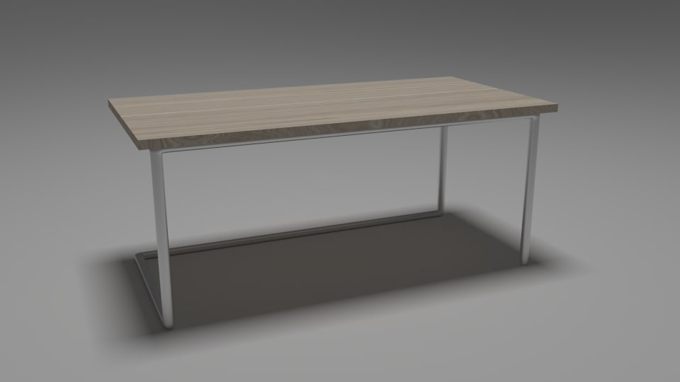 3ds worktable table wooden