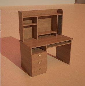 desk desktop 3d model